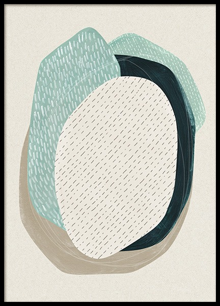 Oval Composition No1 Poster in the group Prints / Art prints / Abstract art prints at Desenio AB (13845)