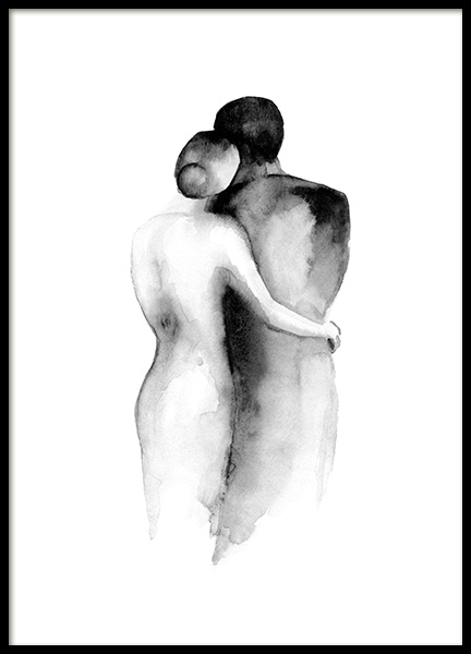 Watercolor Embrace Poster in the group Prints / Art prints / Watercolour paintings at Desenio AB (13852)