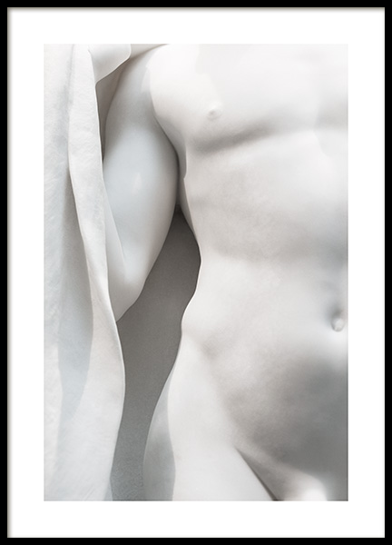 White Statue No2 Poster in the group Prints / Photographs / Black & white photography at Desenio AB (13878)
