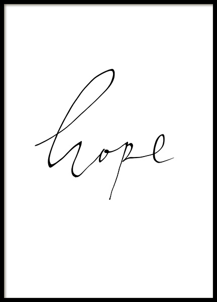 Hope Handwritten Poster in the group Prints / Text posters at Desenio AB (13903)