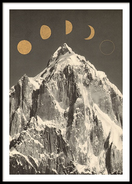 Moon Phases Poster in the group Prints / Retro & vintage at Desenio AB (13921)