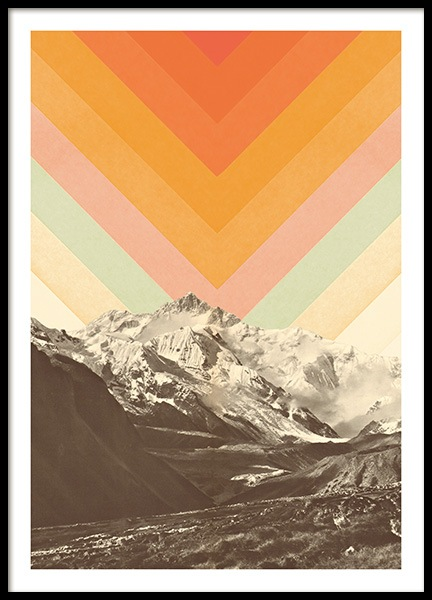 Mountainscape No1 Poster in the group Prints / Retro & vintage at Desenio AB (13922)