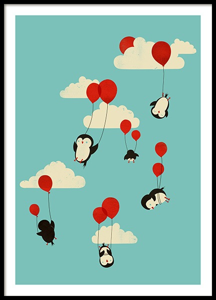 We Can Fly Poster in the group Prints / Kids / Animal illustrations at Desenio AB (13934)