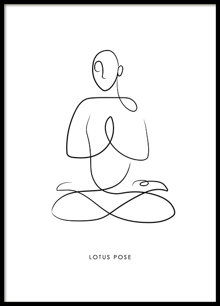Yoga Pose No4 Poster in the group Prints / Art prints / Line Art at Desenio AB (13948)