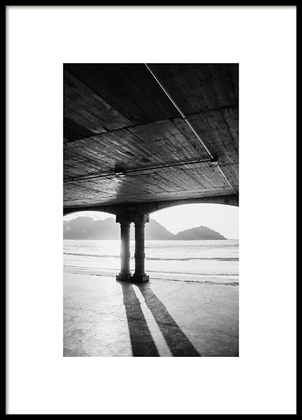 Under the Pier Poster in the group Prints / Photographs / Black & white photography at Desenio AB (13959)