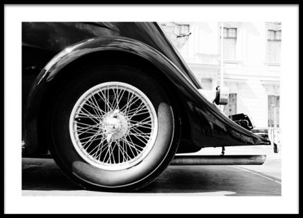 B&W Vintage Car Poster in the group Prints / Photographs / Black & white photography at Desenio AB (13963)