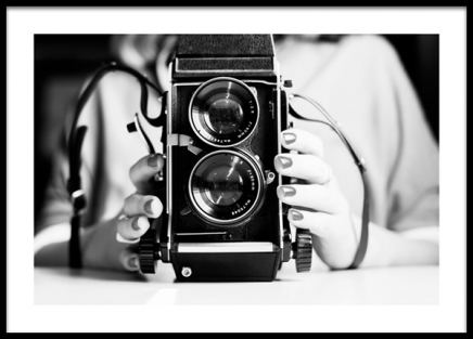 Analog Camera Poster in the group Prints / Photographs / Black & white photography at Desenio AB (13964)