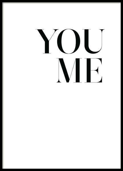 You. Me. Poster in the group Prints / Text posters at Desenio AB (13967)