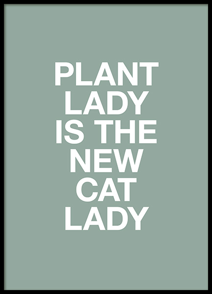 Plant Lady Poster in the group Prints / Text posters at Desenio AB (13970)