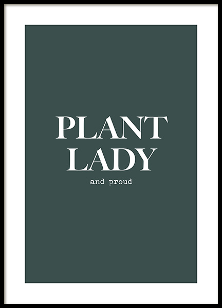 Proud Plant Lady Poster in the group Prints / Text posters at Desenio AB (13974)