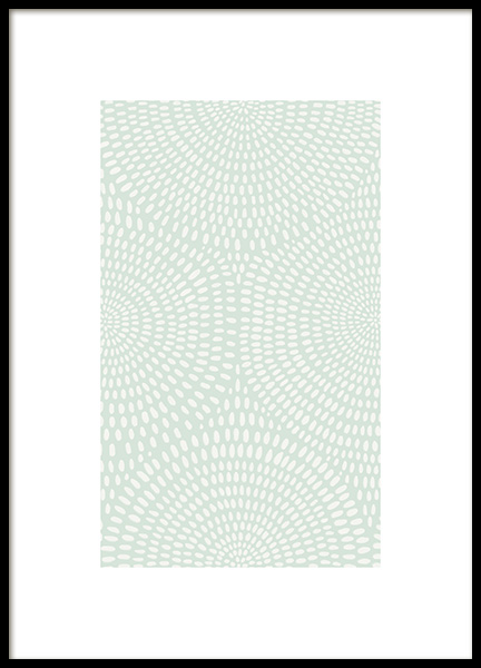 Green Dotted Pattern Poster in the group Prints / Graphical at Desenio AB (13975)