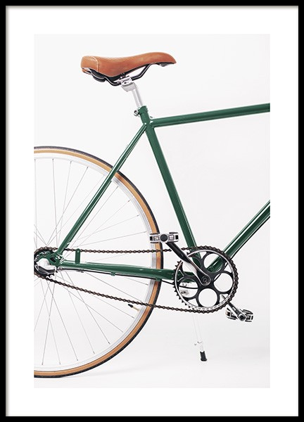Green Bike Poster in the group Prints / Photographs at Desenio AB (13977)