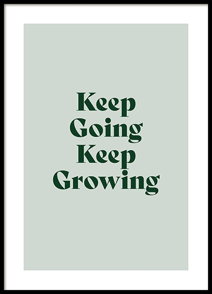 Keep Growing Poster in the group Prints / Text posters / Motivational at Desenio AB (13980)