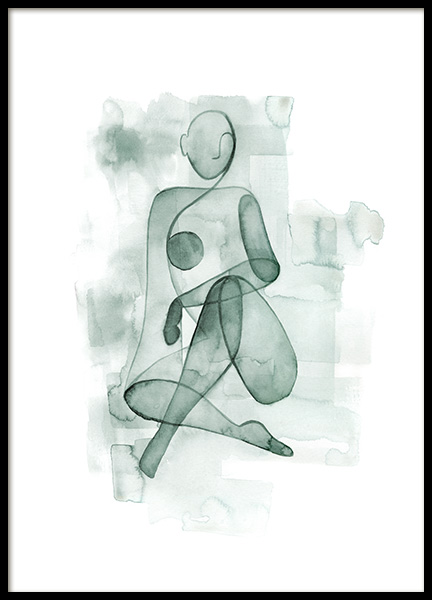 Watercolor Figure No1 Poster in the group Prints / Art prints / Minimalist Art at Desenio AB (13981)