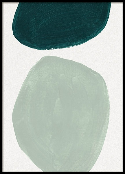 Green Shapes No1 Poster in the group  / Paintings at Desenio AB (13983)