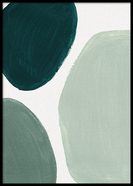 Green Shapes No2 Poster in the group Prints / Art prints / Paintings at Desenio AB (13984)