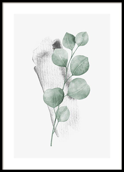 Watercolor Leaves No3 Poster in the group Prints / Botanical / Green plants at Desenio AB (13991)