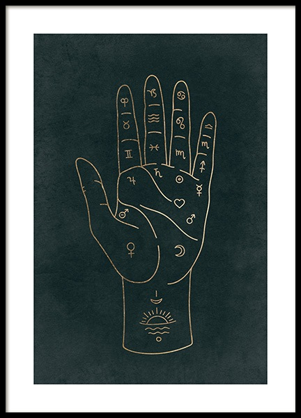 Palmistry Poster in the group Prints / Space & astronomy at Desenio AB (14015)