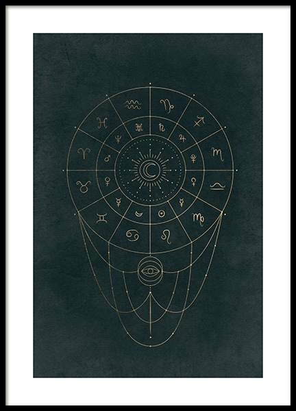 Zodiac Patterns Poster in the group Prints / Space & astronomy at Desenio AB (14016)