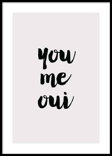You Me Qui Poster in the group Prints / Text posters / Quote prints at Desenio AB (14034)