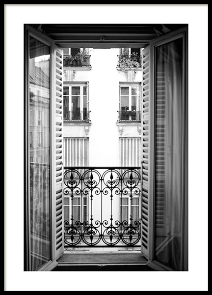 Parisian Balcony Poster in the group Prints / Photographs / Architecture at Desenio AB (14035)