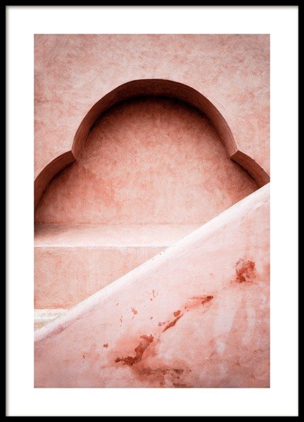 Pink Architecture Poster in the group Prints / Photographs / Architecture at Desenio AB (14043)