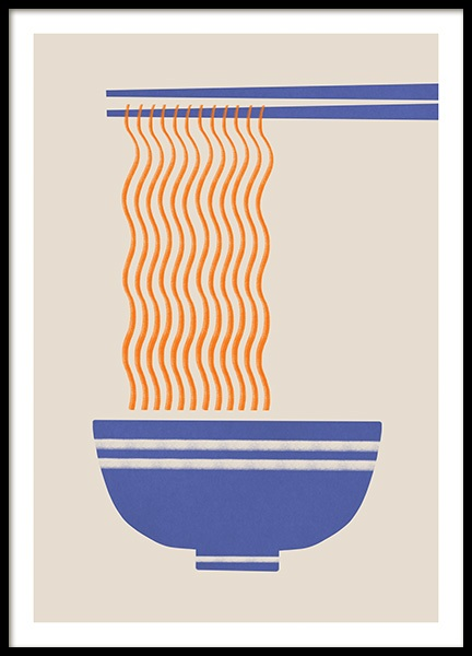 Ramen Noodles Poster in the group Prints / Graphical at Desenio AB (14084)