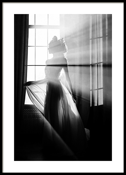 Girl in the Sunlight Poster in the group Prints / Photographs / Black & white photography at Desenio AB (14095)