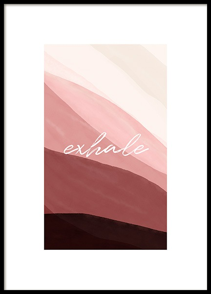 Exhale Poster in the group Prints / Art prints / Abstract art prints at Desenio AB (14118)