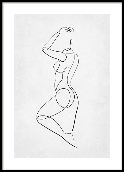Line Art Dance Poster in the group Prints / Art prints / Line Art at Desenio AB (14141)