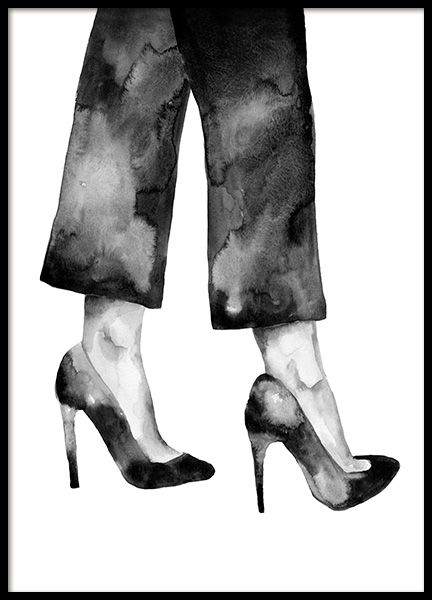 Watercolor Heels Poster in the group Prints / Art prints / Watercolour paintings at Desenio AB (14151)