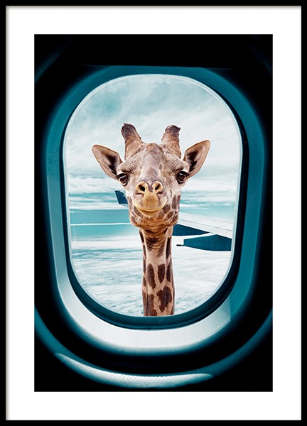 Peek-A-Boo Giraffe Poster in the group Prints / Animals / Wild animals / Giraffes at Desenio AB (14161)