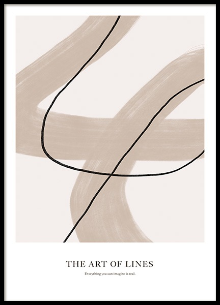 Art of Lines No2 Poster in the group Prints / Art prints / Abstract art prints at Desenio AB (14171)