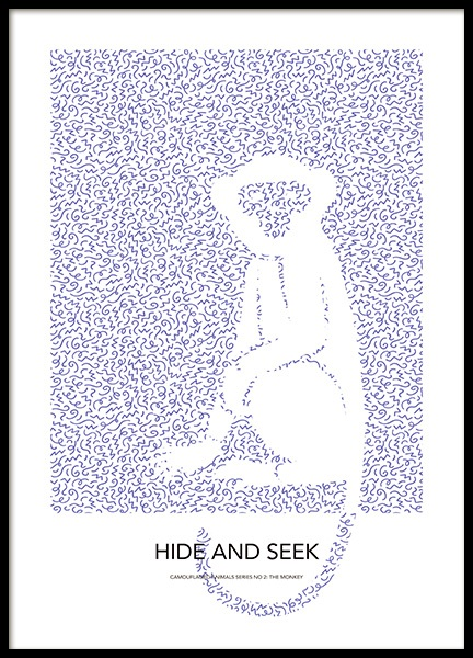 Hide and Seek No1 Poster in the group Prints / Kids wall art / Animal illustrations at Desenio AB (14178)