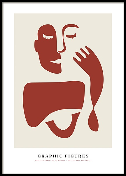 Graphic Figures No1 Poster in the group Prints / Illustrations at Desenio AB (14182)