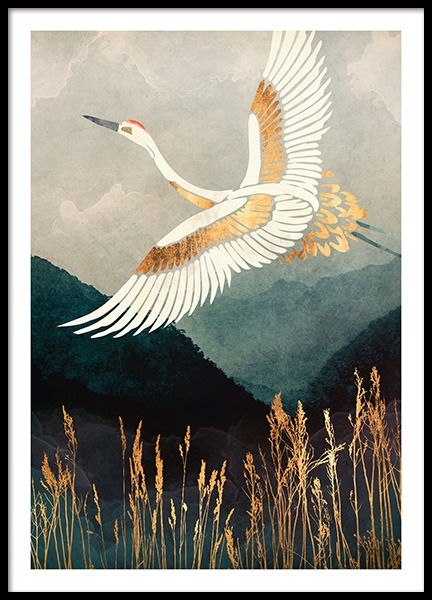 Elegant Flight Poster in the group Prints / Art prints at Desenio AB (14196)