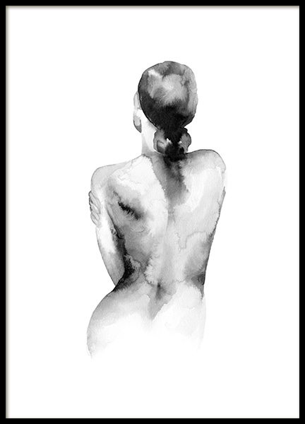 Watercolor Nude Poster in the group Prints / Art prints / Watercolour paintings at Desenio AB (14204)