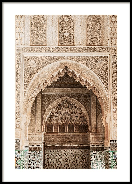 Temple of Marrakech No1 Poster in the group Prints / Photographs at Desenio AB (14229)