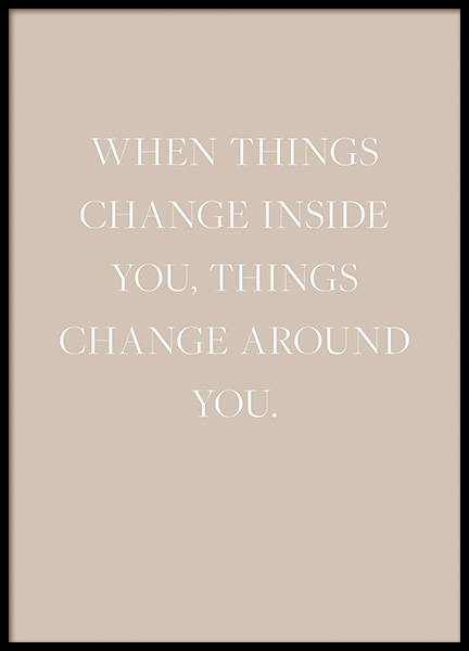 Things Change Poster in the group Prints / Text posters / Quote prints at Desenio AB (14255)