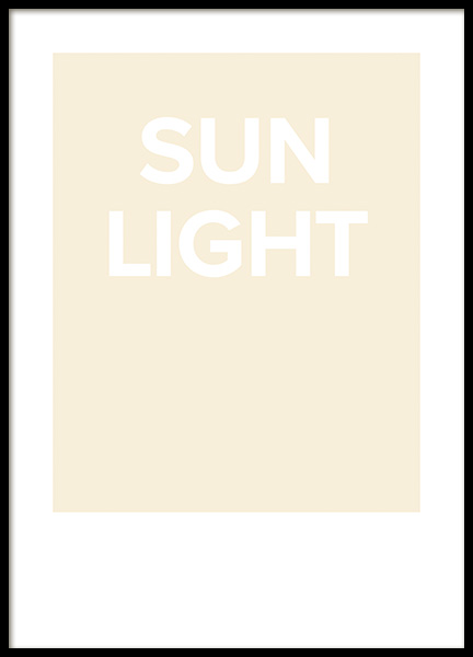 Sunlight Poster in the group Prints / Text posters / Typography at Desenio AB (14283)
