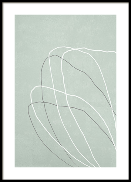 Floral Lines No2 Poster in the group Prints / Botanical / Green plants at Desenio AB (14304)