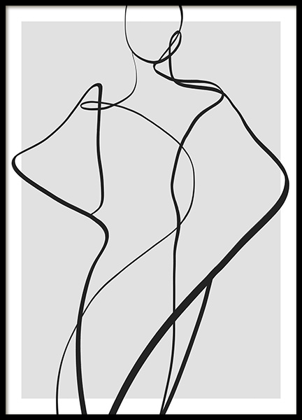 Pose Poster in the group Prints / Art prints / Line Art at Desenio AB (14341)