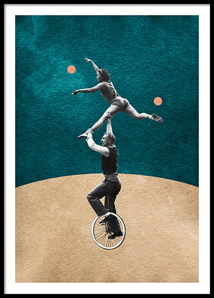 Vintage Unicycle Poster in the group Prints / Retro & vintage at Desenio AB (14358)