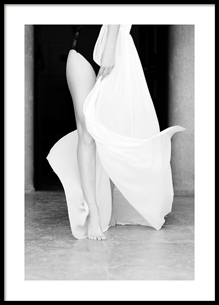 White Fabric Poster in the group Prints / Photographs / Black & white photography at Desenio AB (14387)