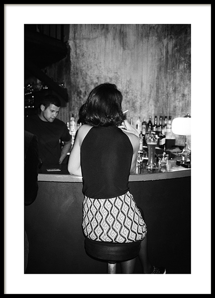 At the Bar Poster in the group Prints / Photographs / Black & white photography at Desenio AB (14389)
