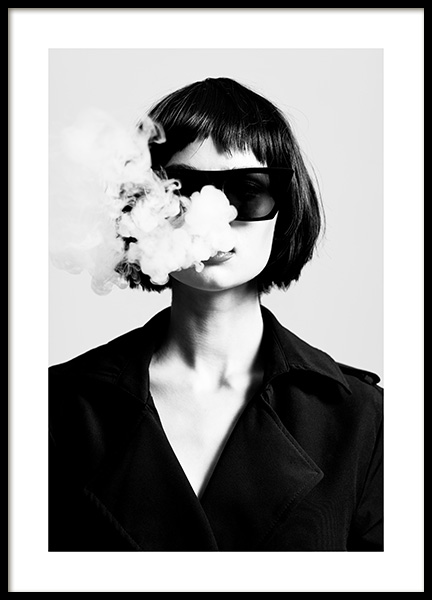 Smoke Signals Poster in the group Prints / Photographs / Black & white photography at Desenio AB (14390)