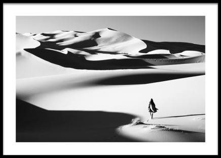 Walking in the Dunes Poster in the group Prints / Photographs / Black & white photography at Desenio AB (14391)