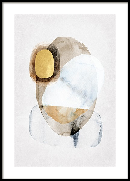 Golden Abstract No1 Poster in the group Prints / Gold & silver at Desenio AB (14405)