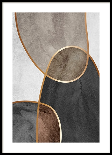 Golden Seams No2 Poster in the group Prints / Gold & silver at Desenio AB (14408)