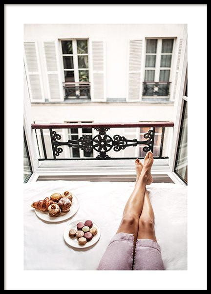 Paris Breakfast Poster in the group Prints / Photographs at Desenio AB (14420)
